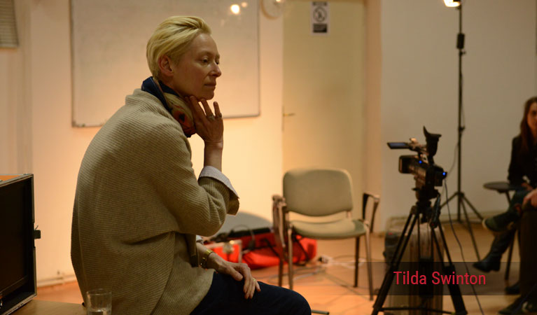 Tilda Swinton in lecture